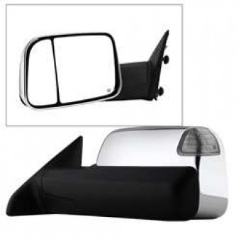 POWER Heated Adjust Mirror with LED Signal Chrome Housing - LEFT
