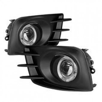 Halo Projector Fog Lights with Switch - Clear