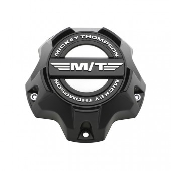Sidebiter Lock Center Caps 5X4.50/5.00/5.50, 6X5.50 Bolt On Closed Flat Black Mickey Thompson