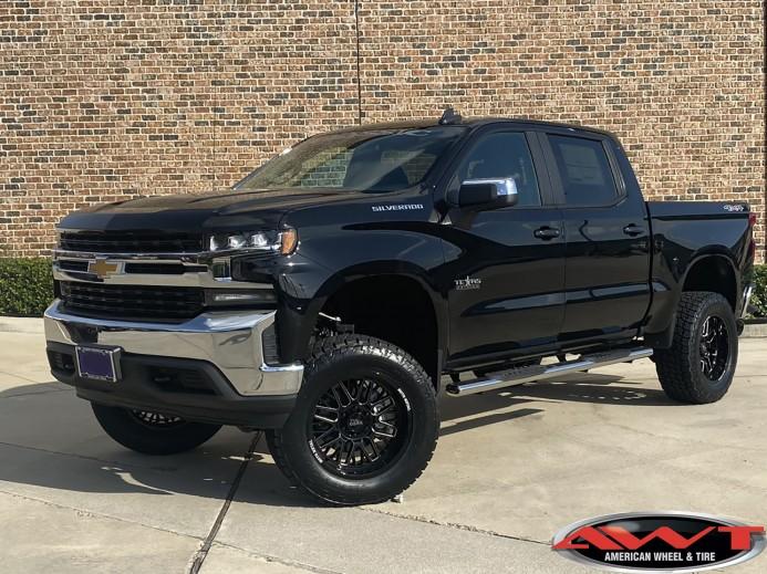 "2020 Chevrolet Silverado 1500 6"" Rough Country lift kit 20"" Moto Metal MO802 wheels black  35"" Nitto Terra Grappler Tires"