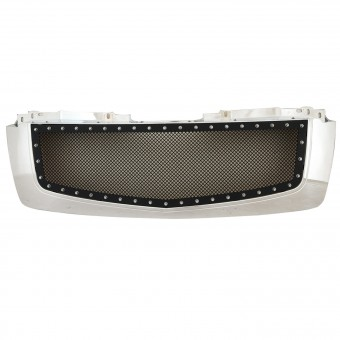 Evolution Stainless Steel Wire Mesh Packaged Grille Chrome Shell/Black Mesh