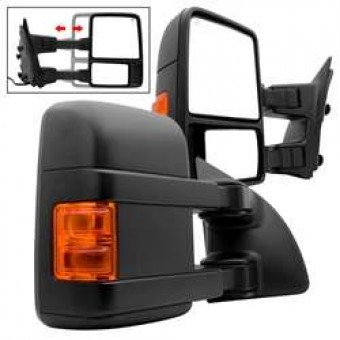 2 Ford Superduty 99-07 POWER Heated Amber LED Signal Telescoping Mirrors