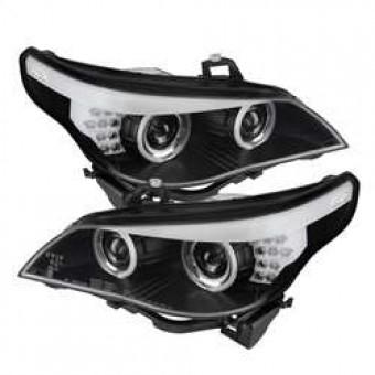 Projector Headlights - Halogen - CCFL Halo - Black