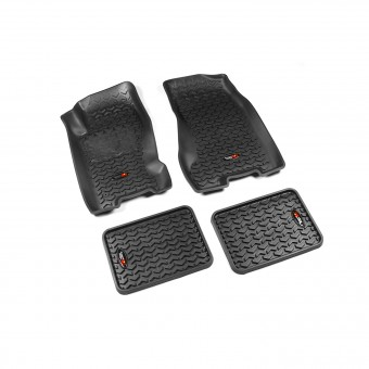 Floor Liners, Kit, Black; 99-04 Jeep Grand Cherokee WJ