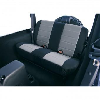 Neoprene Rear Seat Covers, Gray; 97-02 Jeep Wrangler TJ