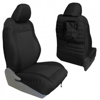 Toyota Tacoma Seat Covers 09-15 Tacoma TRD Front Black/Multicam Tactical Series Pair Bartact