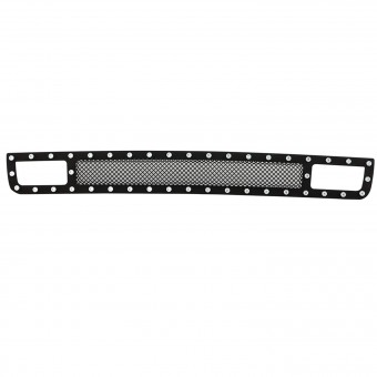 Evolution Stainless Steel Wire Mesh Cutout Bumper Grille Black