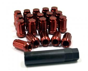 Agency Power Tuner Lugs 12x1.25 Closed End Wheel Lug Nuts Red Agency Power