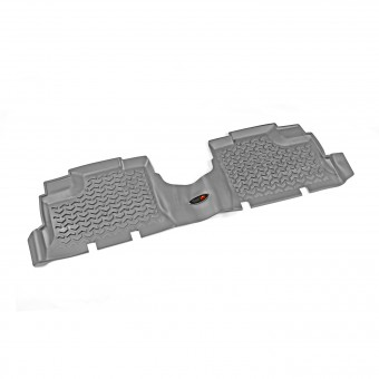 Floor Liners, Rear, Gray; 07-16 Jeep Wrangler JKU
