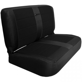 Jeep YJ Seat Covers Rear Bench 87-95 Wrangler YJ Mil-Spec Black/ACU Camo Bartact
