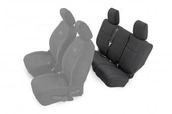 Jeep Neoprene Rear Seat Cover, Black (13-18 Wrangler JK Unlimited)