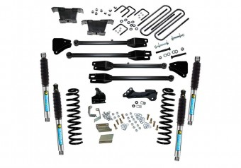4 Lift Kit - 11-16 F250/F350 4WD - Dsl w/ 4-Link Conversion & Bil Shocks
