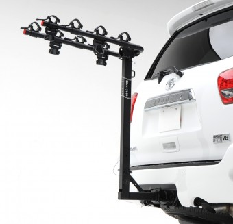 Traveler 4, 1.25'' and 2'' Hitch Rack carries 4 bikes