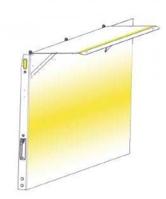 72 in. Left Wall Lighting Kit