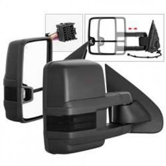 G2 Power Heated Smoke LED Signal Telescoping Mirror - SET