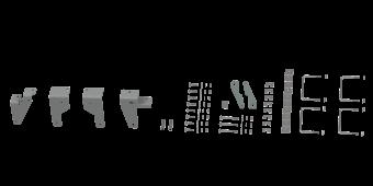 RVR2605 CUSTOM INSTALLATION KIT FOR UNIVERSAL MOUNTING RAILS FOR SOME RAM TRUCKS