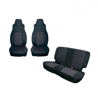 Seat Cover Kit, Black; 91-95 Jeep Wrangler YJ