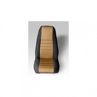 Neoprene Front Seat Covers, Tan; 76-90 Jeep CJ/Wrangler YJ