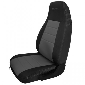 Jeep YJ Seat Covers Front 87-95 Wrangler YJ Mil-Spec Black/Graphite Bartact