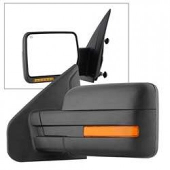 POWER Heated Amber LED Signal OE Mirror - Left
