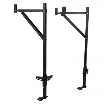 Side-Mounted Ladder Rack Black