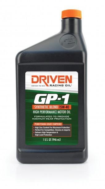 GP1 15W-40 Synthetic Blend Racing Oil - 1 Quart Bottle