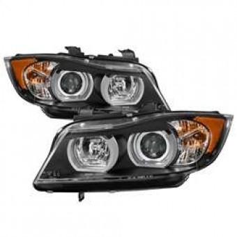 Projector Headlights - Halogen - LBDRL - Black