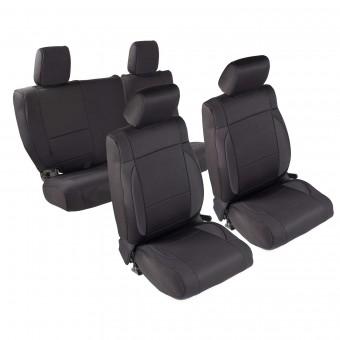 Smittybilt NEOPRENE SEAT COVER SET FRONT/REAR - BLACK JEEP, 07 JK - 4 DOOR 471801