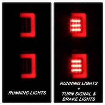 Version 2 Light Bar LED Tail Lights - Black Smoke