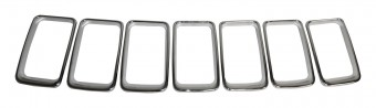 Polished Chrome Grille Insert Set for 2014-2016 Jeep WK Grand Cherokee