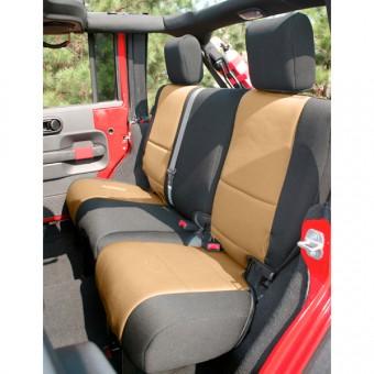 Neoprene Rear Seat Cover; 07-16 Jeep Wrangler JKU