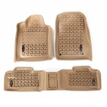 Floor Liners, Kit, Tan; 11-16 Dodge Durango/Jeep Grand Cherokee WK