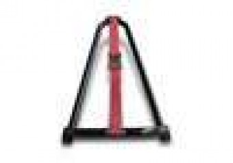 Gloss Black Bed Mounted Tire Carrier w/ Red Strap