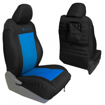 Toyota Tacoma Seat Covers 09-15 Tacoma TRD Front Black/Blue Tactical Series Pair Bartact