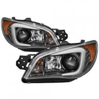 Projector Headlights - Xenon/HID - Light Bar DRL - Black