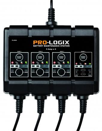 12V 4x5A SOLAR PRO-LOGIX 4-Bank Battery Maintenance Station