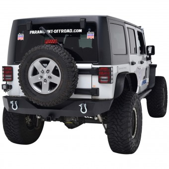 Heavy Duty Rock Crawler Rear Bumper Black