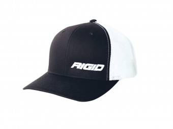 HAT TRUCKER SIDE LOGO BLK/WHT