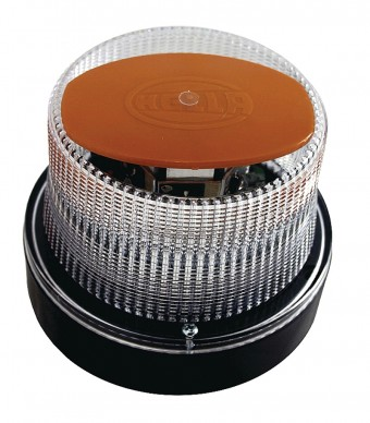 OptiRAY Amber LED Beacon 12V Fixed Mount