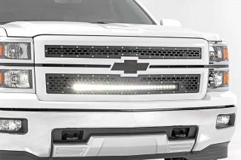 Chevy Mesh Grille w/30in Black Series LED (14-15 Silverado 1500)