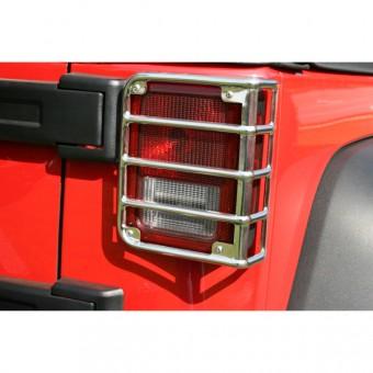 Tail Light Euro Guards; 07-16 Jeep Wrangler JK