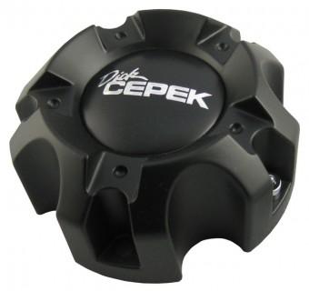 DC 2/Torque Center Caps 5 X 150 Bolt On Closed Flat Black Dick Cepek