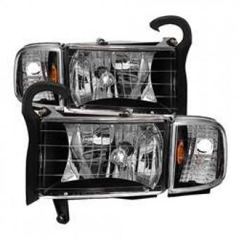 OEM Style Headlights with Corner Lamps - Black