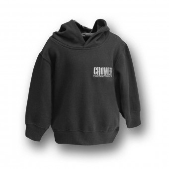 PULLOVER HOODY BLACK W/ CROWER LOGO (TODDLER 2)
