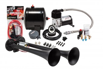 Pro Blaster? Dual Truck Horn Kit, 120 PSI Sealed Air Compressor and 0.5 gal tank