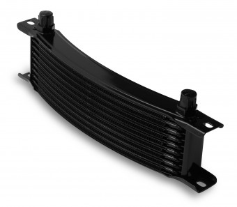 -6M 10 ROW NARROW CURVED COOLER BLACK