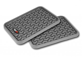 Floor Liners, Rear, Gray, Pair, Universal