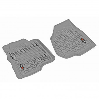 Floor Liners, Front, Gray; 11-12 Ford F-250/F-350 Reg/Ext/SuperCrew