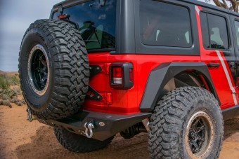 Jeep JL Tailgate Mounted Tire Carrier 18-Present Wrangler JL DV8 Offroad