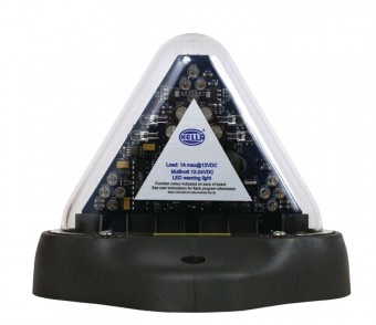 MiniRAY Amber LED Strobe 12V Fixed Mount